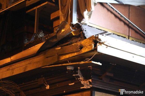 Повреждения здания