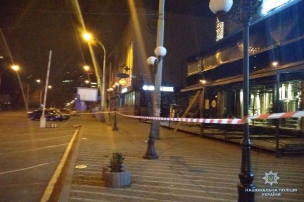 Выстрел из гранатомета в Киеве