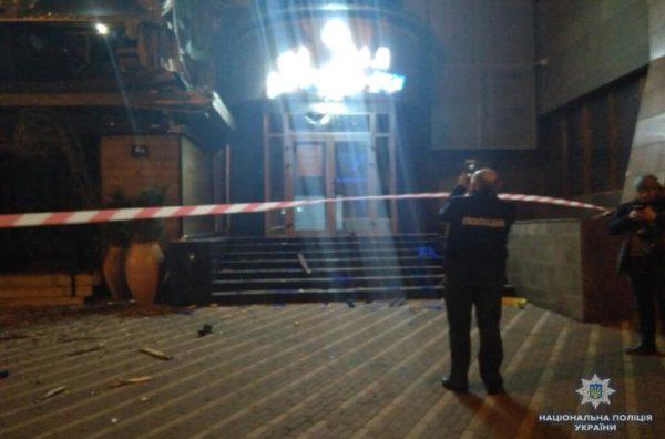 Ночьной обстрел здания в столице