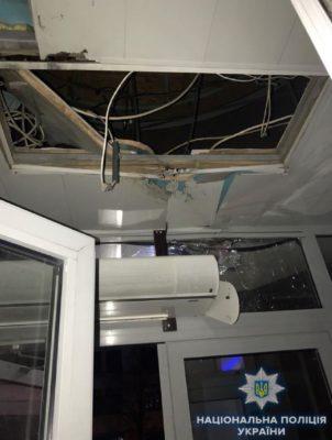 Повреждения в результате обстрела Киевгорстроя