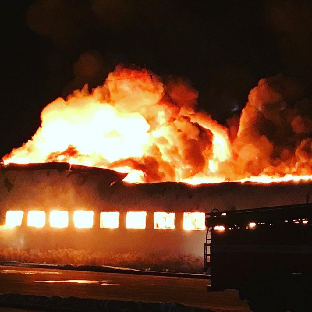 Пожар в Тюмени