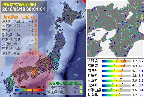Землетрясение Осака